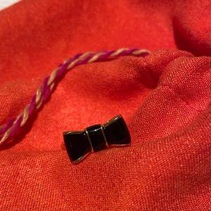 KATE SPADE Gold & Black Bow Ring